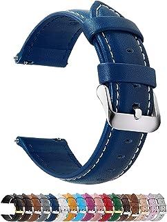 Fullmosa Bracelet Cuir Montre Femme Homme Fixation Rapide, Axus Series Watch Bracelet de Remplacement Cuir de Veau véritab...