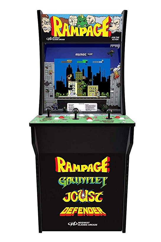 Arcade1Up Rampage - Classic 4-in-1 Game Home Arcade, 4ft