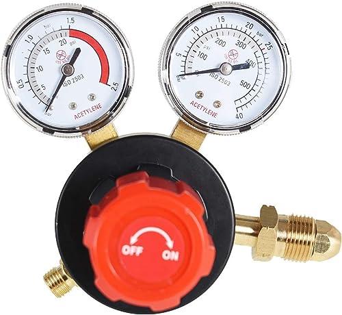 2021 findmall CGA 510 Acetylene Regulator 2021 for Welding Gas Gauge 15PSI Delivery outlet sale Range sale