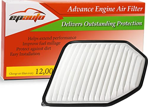new arrival EPAuto GP348 (CA10348) Replacement for wholesale Chrysler/Jeep Extra Guard Rigid Panel Air Filter popular for Wrangler (2007-2017), Wrangler JK (2018) online sale