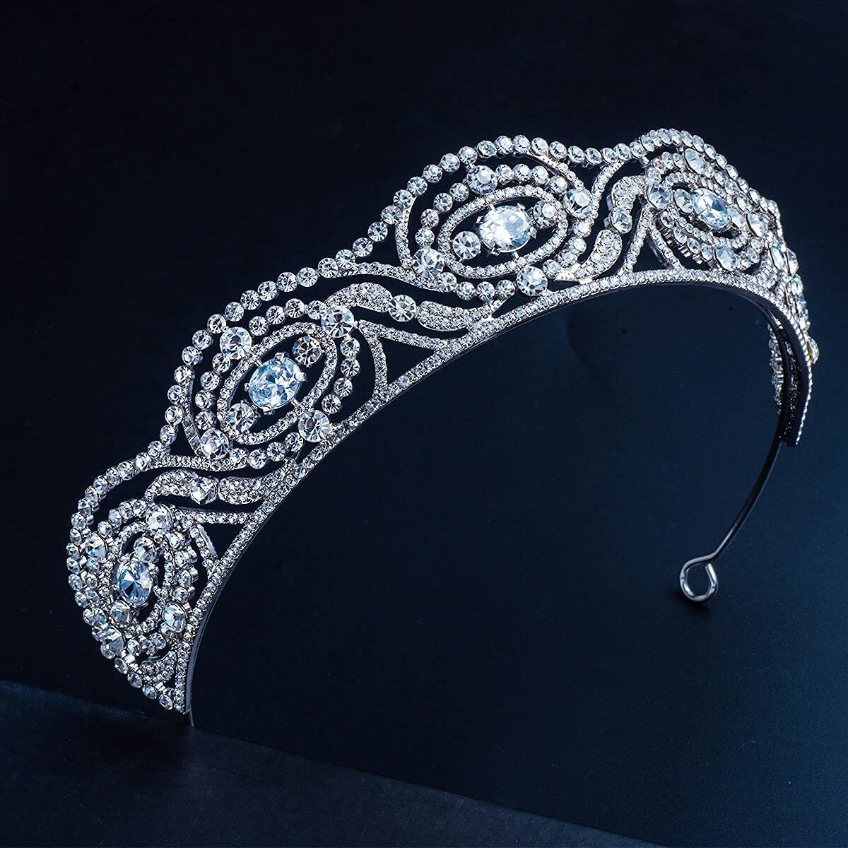 Princess Rhinestones Headband Topics on TV Bridal Low price Crown Al Hair Hoop Glittery