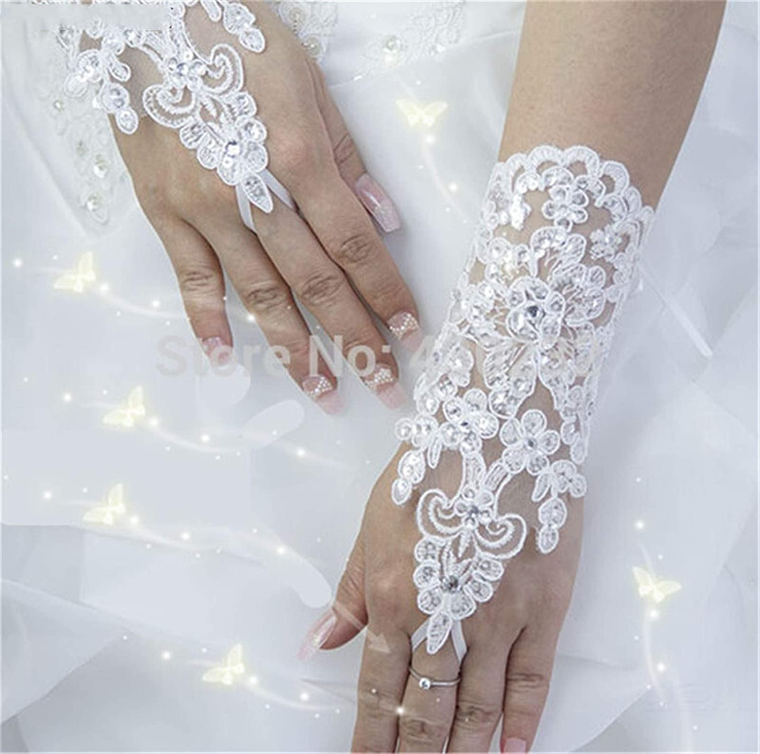 YSYSPUJ Sun Indianapolis Free Shipping Cheap Bargain Gift Mall Protection Gloves Elegant Short Lace Beaded Br Satin