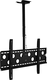 Mount-It! TV Ceiling Mount, Full Motion Height Adjustable Swivel Tilting Bracket for 42, 45, 47, 49, 50, 55, 60, 65, 70, 75, 80, 85, 90 Inch, TVs 220 Lbs Capacity