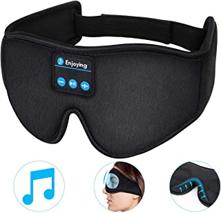 3D Bluetooth Sleep Mask- LC-dolida Bluetooth Sleeping Music Eye Cover Headsets Microphone Travel