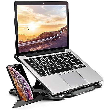 BeHom ノートパソコン スタンド パソコンスタンド PCスタンド ノートPC スタンド 折りたたみ式 パソコン 台 ラップトップスタンド 超軽量モデル 360度回転 17インチまで対応 laptop stand