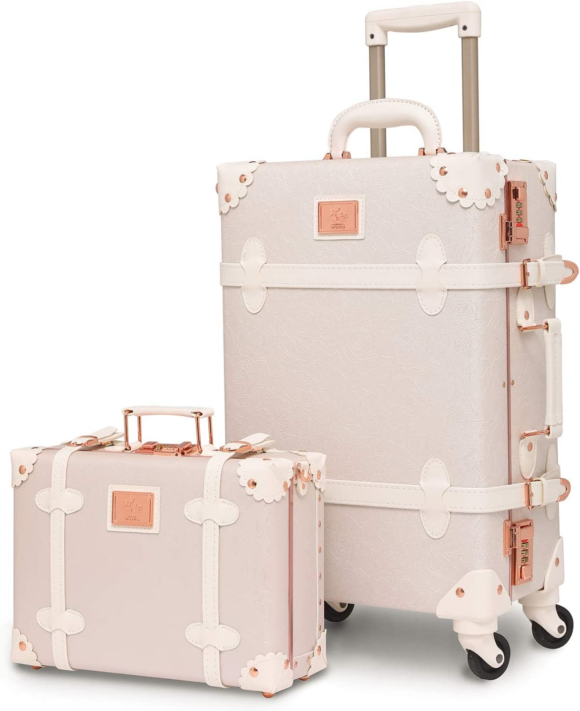 urecity Designer Courier shipping free shipping Vintage Superlatite Trunk Combination Luggage of Pie Sets 2