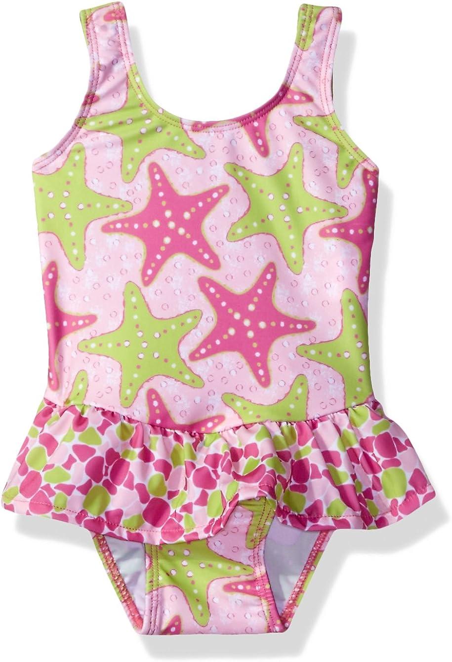 Flap Happy Girls' Baby UPF 50+ Serena Contrast Swimsuit