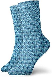 Jhonangel, Calcetines de vestir Bigfoot azules Calcetines divertidos Calcetines locos Calcetines casuales para niñas Niños