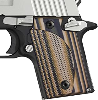 Cool Hand Sig Sauer P938 G10 Grips with Classic Double Cut, Coyote
