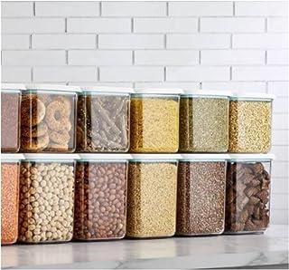 Conteneur Stockage Nourriture, 9 PC Storage Boîte Rangement Organisateur Cuisine Nouilles Boîte Nouilles Boars Chaînes Séc...