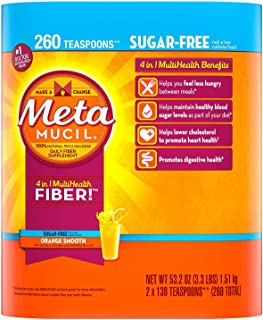 EE Sugar Free Orange Fiber Supplement, Smooth Powder (260 doses)