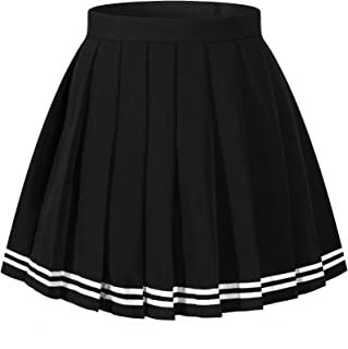 Best white pleated skirt with black stripe Reviews