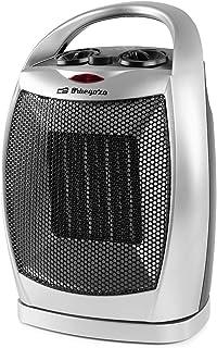 Orbegozo CR 5021 - Calefactor cerámico, 2 niveles de potencia, función ventilador aire frío, oscilante, indicador luminoso, 1500 W