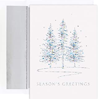 Masterpiece Studios Holiday Collection 16 Cards / 16 Foil Lined Envelopes, Winter Treeline