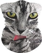 LIUBT Bandana gezichtsmasker stofbescherming buiten Sport hoofd Wrap zon UV Motorfiets Leuke kat gezicht sjaals voor vrouw...