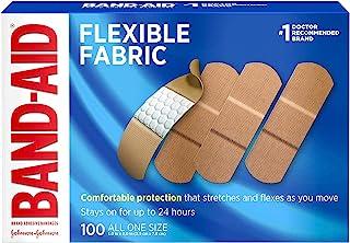 """باند چسب Band-Aid، پارچه انعطاف پذیر، همه یک اندازه 1 """"X 3""""، 100 تعداد (بسته 2)"""