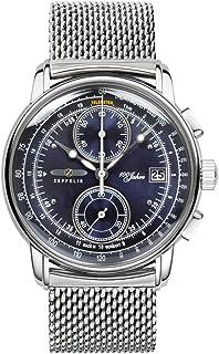 ツェッペリン ZEPPELIN 腕時計 8670M-3 100周年記念 クォーツ 42mm メタルベルト [並行輸入品]