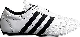 Adidas空手テコンドー/格闘技/靴、ホワイト/ブラックストライプ
