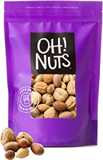 Oh! Nuts Mixed Nuts in Shell Variety Pack | Low-Carb, High-Protein Keto Snacks | Jumbo-Sized Premium Unshelled Nuts in Resealable Stay-Fresh 3-Pound Bulk Bag | All-Natural, No Salt, No Sugar & Vegan