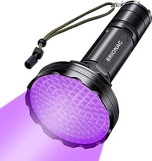 Sponsored Ad - BRIONAC UV Black Light Flashlight, 128 LED 395nm Wavelength Blacklight for Pet (Cat/Dog) Urine Detection wi...