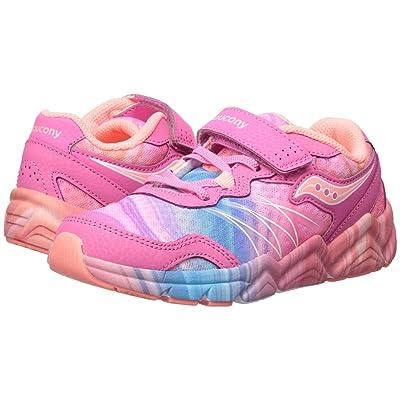 Saucony Kids Flash A/C (Little Kid) (Pink/Multi) Girls Shoes