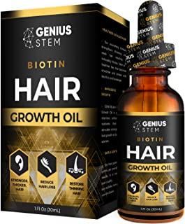 GENIUS Hair Growth Oil for Stronger, Thicker, Longer Hair, Hair Growth Treatment for Women Men With Thinning Hair Loss Serum 1fl oz