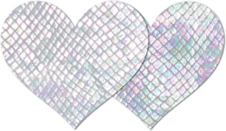 Nippies Style White Snake Heart Waterproof Self Adhesive Nipple Cover Pasties