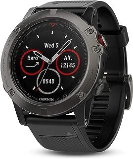 GARMIN Fenix 5X GPS Watch Sapphire Slate Grey W/Black BAN Fenix 5X GPS Watch Sapphire Slate Grey W/Black BAN