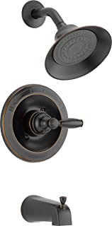 Peerless Claymore Single-Handle Tub and Shower Faucet Trim Kit with Single-Spray Shower Head, Oil-Rubbed Bronze PTT188790-OB (Valve Not Included)