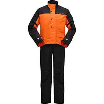 ヤマハ(YAMAHA) バイク用レインスーツ セパレート YAR19 CYBER TEX2 ダブルガード オレンジ L 90792-R037L