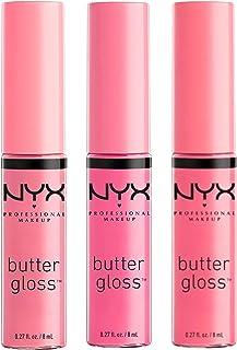 NYX Cosmetics Butter Lip Gloss, Eclair, Merengue & Vanilla Cream Pie - Pink 1 Collection