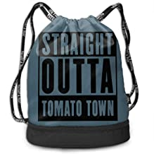 Drawstring Backpack Straight Outta Tomato Town Gym Bag