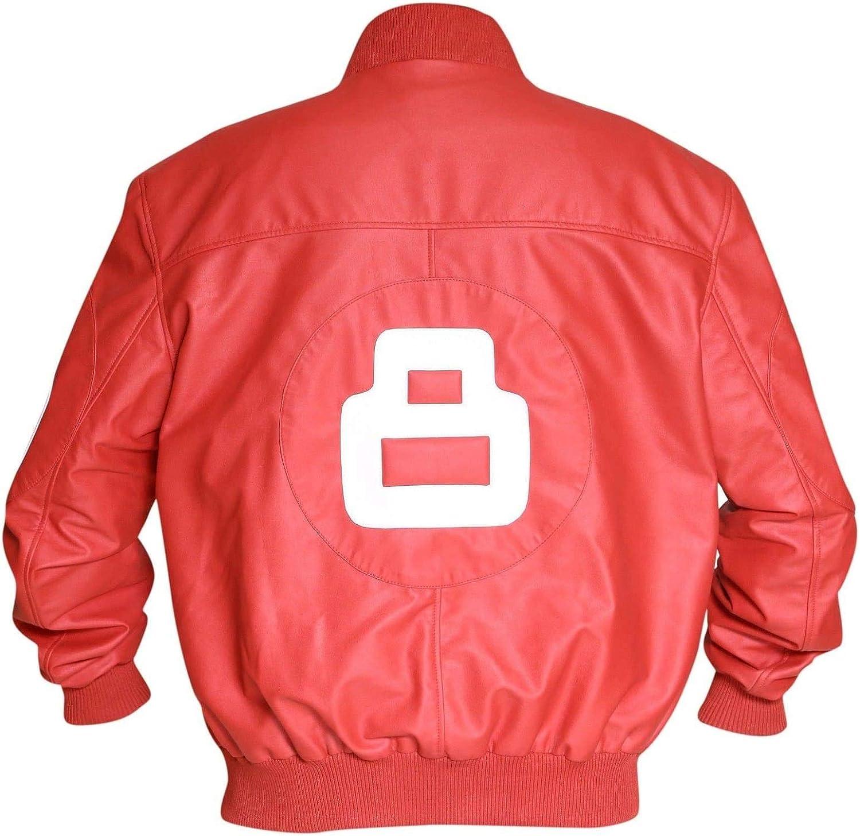 Mens Sale Max 48% OFF SALE% OFF Puddy 8 Ball Logo Biker Letterman Bomber Varsity Leather Ja