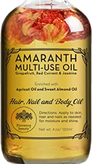 Amaranth Multi-Use Oil for Face, Body and Hair - Organic Blend of Apricot, Vitamin E and Sweet Almond Oil Moisturizer for ...