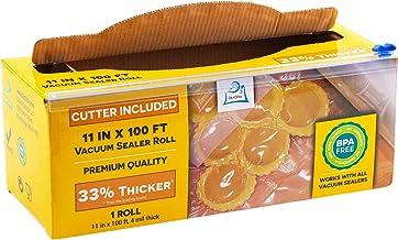 "11"" x 100' Mega Roll & Cutter Box Vacuum Sealer Bags Roll (No More Scissors) 4 mil 100 Foot OutOfAir, 33% Thicker, BPA Fre..."