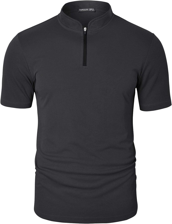 TAPULCO Mens Quick-Dry Active Elegant Sports Quarter Zip Long Tampa Mall Shirt Tech