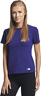 Russell Athletic Women's Essential Short Sleeve Tee, Purple, XL