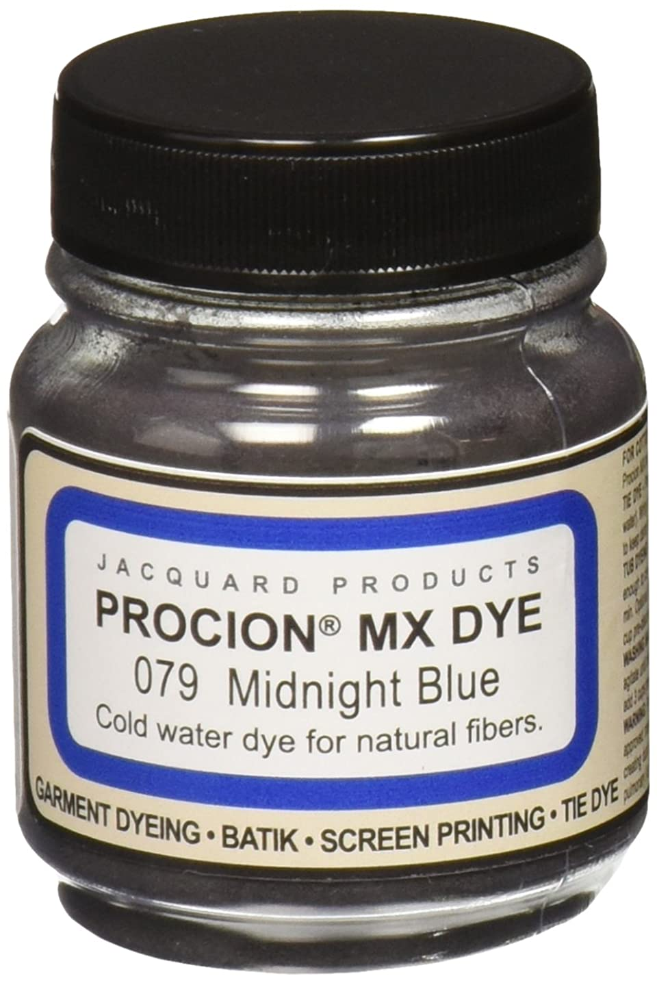 Jacquard Products Procion MX Dye, 2/3-Ounce, Midnight Blue