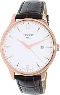 Tissot Tradition Men's White Dial Leather Band Watch - T063.610.36.037.00