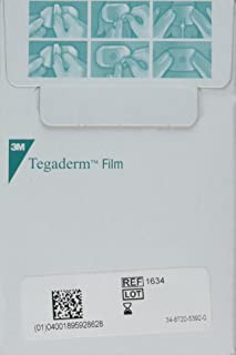 "3M Tegaderm 1624W Transparent Film Dressing 2 3/8"" x 2 3/4"" - Window Frame Box: 100"