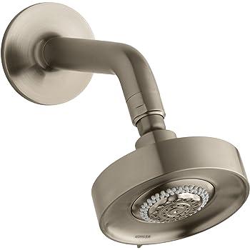 Kohler K-966-BV Purist/Taboret Multifunction Showerhead with Standard Ball Joint, Vibrant Brushed Bronze