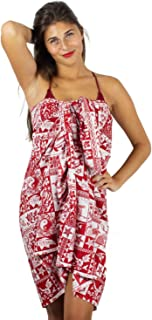V.H.O Funky Hawaiian Sarong Pareo Cover-up One-Size Unisex Puzzle Multiple Colors
