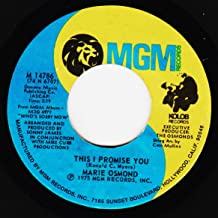 45vinyl THIS I PROMISE YOU / WHO'S SORRY NOW (7