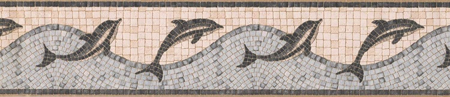 Concord Branded goods Wallcoverings Wallpaper Border Safety and trust Dolphins Mosaic Featuring