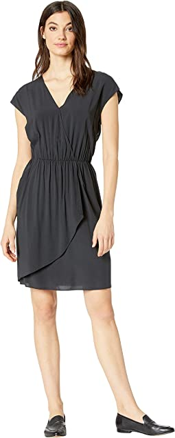 Pleated Cross Front Dress