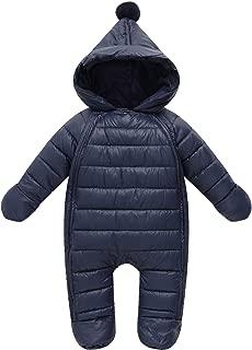 famuka Baby Winter Snowsuit Infant Hooded Outerwear Jumpsuit Newborn Romper Thick Coat