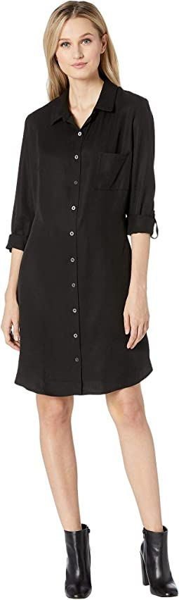 All Weather Twill Tunic Shirtdress