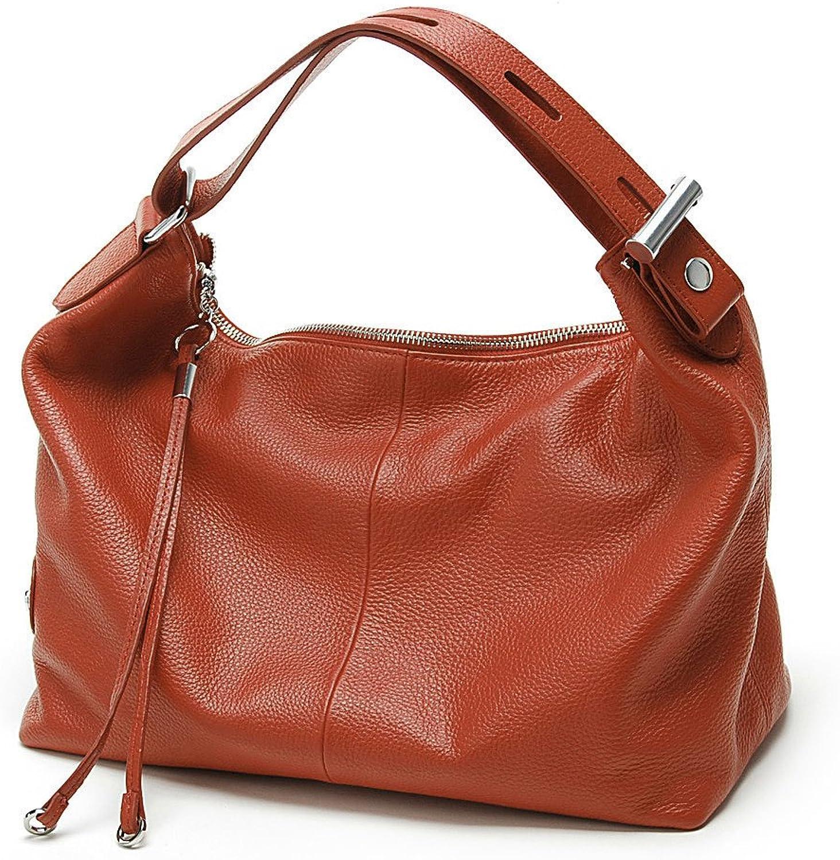 Zency Women Real Leather Cross Body Casual Handbag