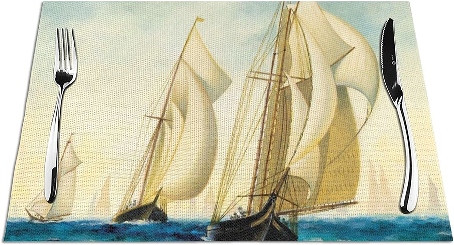 Woven Placemat Sail Boat Placemats Brand Cheap Sale Venue Dining Washable for Houston Mall Table Wov