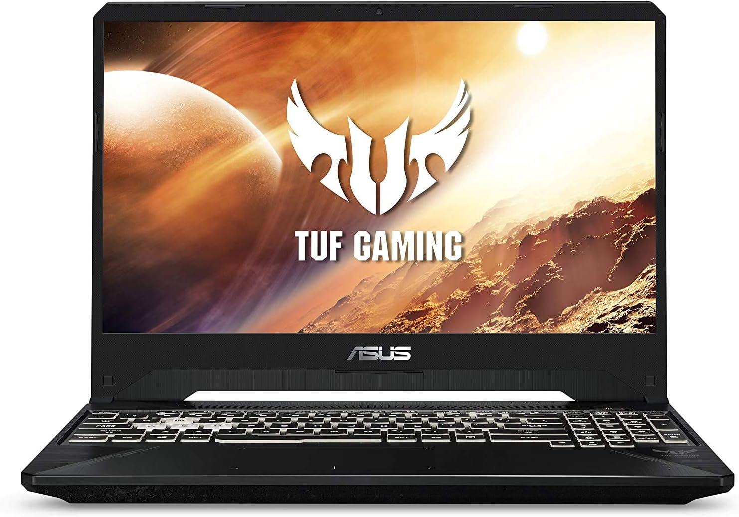"""ASUS TUF 15.6"""" FHD 144Hz IPS Gaming Laptop, AMD Ryzen 7 3750H Processor, NVIDIA GeForce RTX 2060, Webcam, Wi-Fi, Bluetooth, RGB Backlit Keyboard, Windows 10, CUE Accessories (16GB DDR4, 1TB SSD)"""